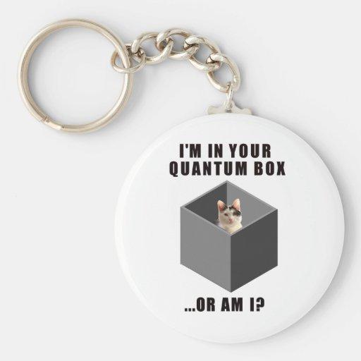 Quantum Cat Key Chain