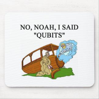 quantum computer joke mouse pad
