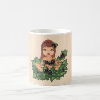 Quantum Cutie Grape Vine Girl Basic White Mug