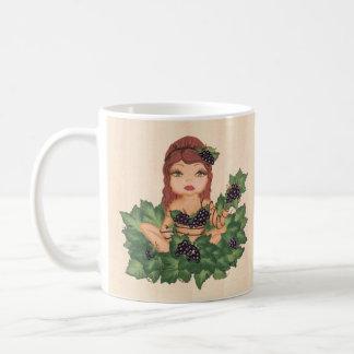 Quantum Cutie Grape Vine Girl Classic White Coffee Mug