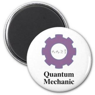 quantum mechanic 6 cm round magnet