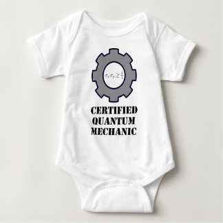 quantum mechanic, uncertainty principle baby bodysuit