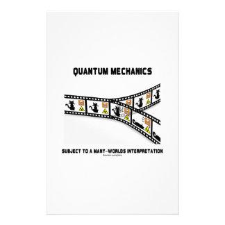 Quantum Mechanics Many Worlds Interpretation Personalised Stationery