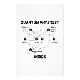 Quantum Physicist Inside (Higgs Field Higgs Boson) Stationery Design