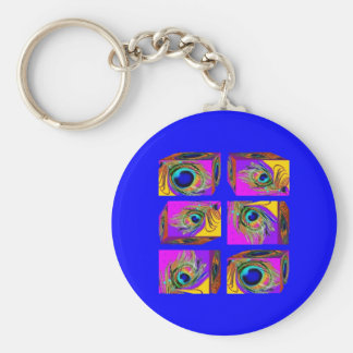 Quantum Theory Peacock Feather Cubes by Sharles Keychains