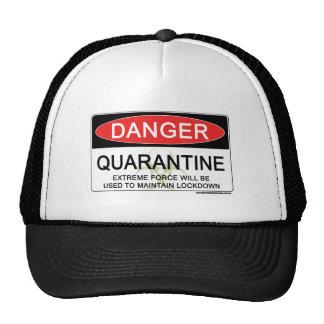 Quarantine Danger Sign Cap