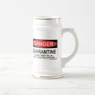 Quarantine Danger Sign Mugs