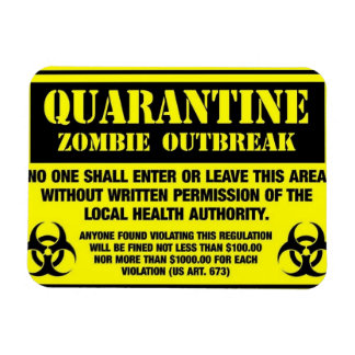 quarantine rectangular photo magnet