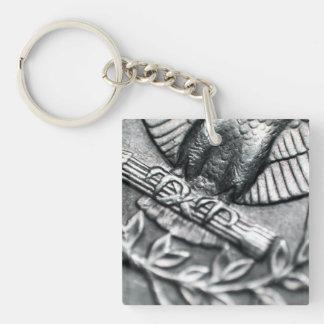 Quarter Dollar Square Acrylic Keychain