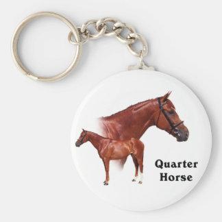 Quarter Horse Basic Round Button Key Ring