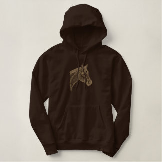 Quarter Horse Embroidered Hooded Sweatshirts