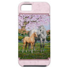 Quarter Horse Mare and Foal Pink iPhone 5 Cover