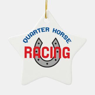 QUARTER HORSE RACING CERAMIC STAR DECORATION