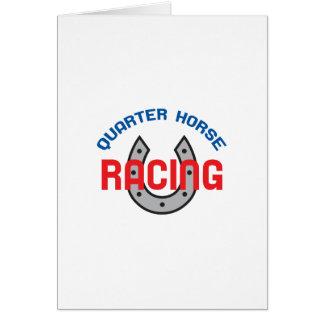 QUARTER HORSE RACING GREETING CARD