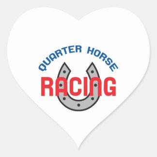 QUARTER HORSE RACING HEART STICKER