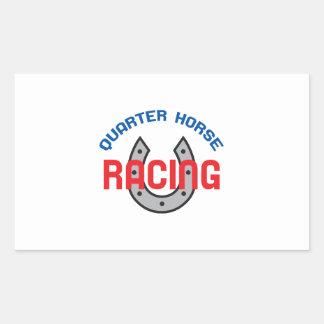 QUARTER HORSE RACING RECTANGULAR STICKER