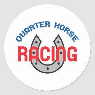QUARTER HORSE RACING ROUND STICKER