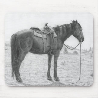 Quarter Horse Resting Mouse Pad