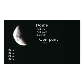 Quarter Moon Double-Sided Standard Business Cards (Pack Of 100)