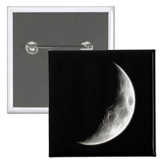 Quarter Moon Lunar Planet Globe 15 Cm Square Badge