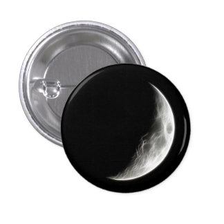 Quarter Moon Lunar Planet Globe 3 Cm Round Badge