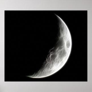 Quarter Moon Lunar Planet Globe Posters