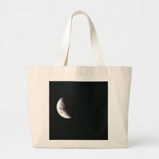 Quarter Moon Tote Bags