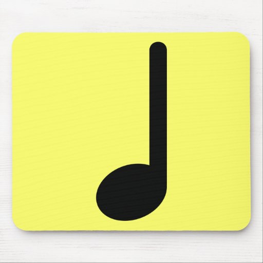 Quarter Note with Stem Facing Up Mousepads