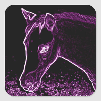 Quarter Pony Filly in Purple Square Stickers