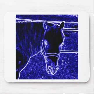 Quarter Pony Mousepad in Crazy Color Pony Blue
