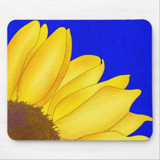 Quarter Sunflower Mouse Pad