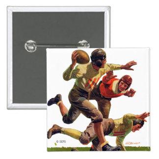 Quarterback Pass 15 Cm Square Badge
