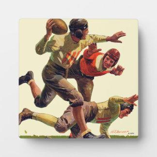 Quarterback Pass Display Plaque