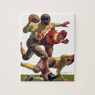 Quarterback Pass Jigsaw Puzzle