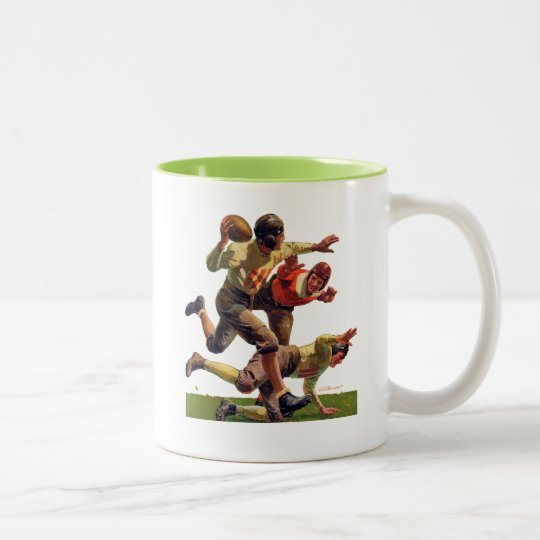 Quarterback Pass Two-Tone Coffee Mug