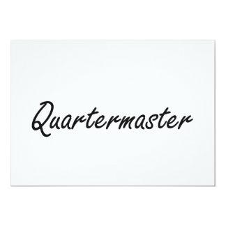 Quartermaster Artistic Job Design 13 Cm X 18 Cm Invitation Card