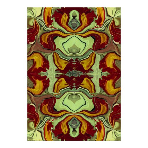 Quartz Abstract Art Painting Poster