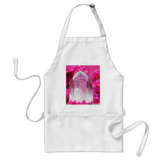Quartz Crystal and Pink Flowers Standard Apron