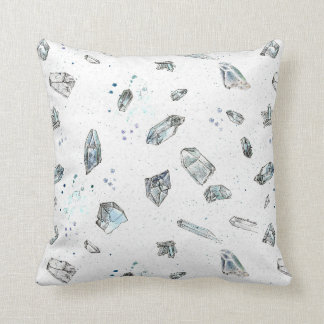 Quartz Crystals Rocks Geology Illustration Cushion