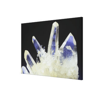 Quartz crystals (SiO2), Peru, South America Canvas Print