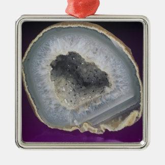 Quartz Geode Cut Open Christmas Ornament