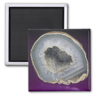 Quartz Geode Cut Open Square Magnet