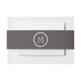 Quartz High End Colored Personalized Invitation Belly Band
