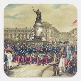 Quatorze Juillet, 1881 Square Sticker