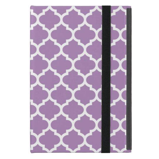 Quatrefoil African Violet Purple Case For iPad Mini