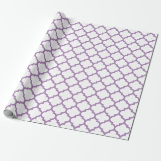 Quatrefoil African Violet Purple Wrapping Paper