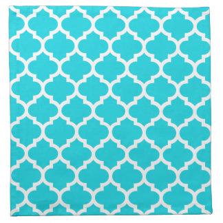 Quatrefoil Aqua Pattern Cloth Napkins