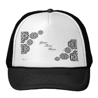 Quatrefoil Damask Trucker Hats