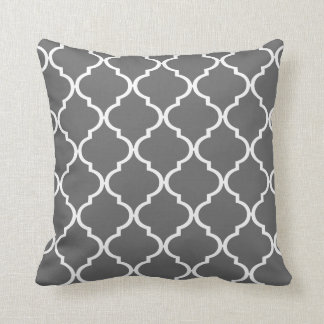 Quatrefoil DIY CHOOSE YOUR OWN COLOR | grey Cushion