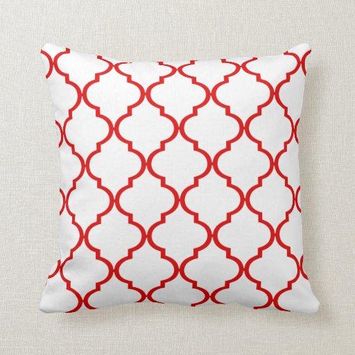 Quatrefoil DIY CHOOSE YOUR OWN COLOR | red Pillow